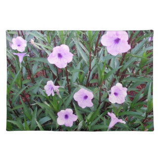 Eight Pretty Purple Mexican Petunias Placemat