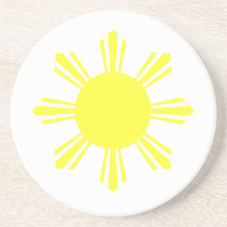Eight Ray Sun Drink Coaster