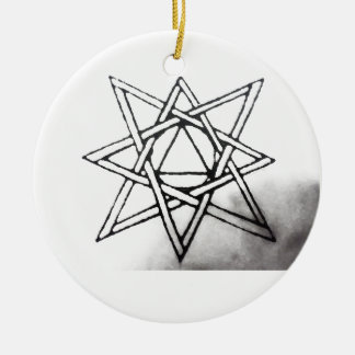 Eight Rayed Star Ceramic Ornament