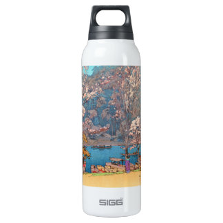 Eight Scenes of Cherry Blossoms, Arashiyama 16 Oz Insulated SIGG Thermos Water Bottle