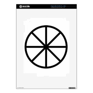 Eight Spoke Wheel Decal For iPad 2