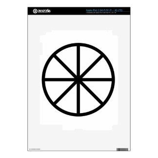 Eight Spoke Wheel iPad 3 Decal