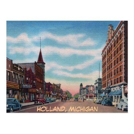 Eight St. Hollan Michigan Post Card