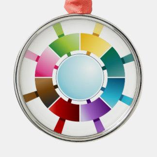 Eight Step Arrow Compass Chart Metal Ornament