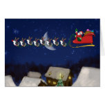 Eight Tiny Penguins Greeting Card