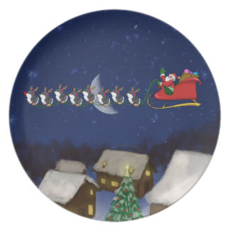 Eight Tiny Penguins Plate
