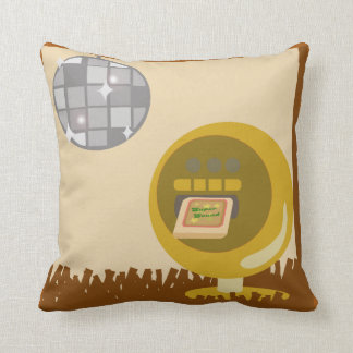 Eight Track Disco Time Throw Pillow