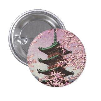 Eight Views Of Tokyo Ueno Toshogu Shrine Kasamatsu Pinback Buttons