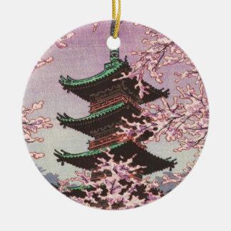 Eight Views Of Tokyo Ueno Toshogu Shrine Kasamatsu Ceramic Ornament