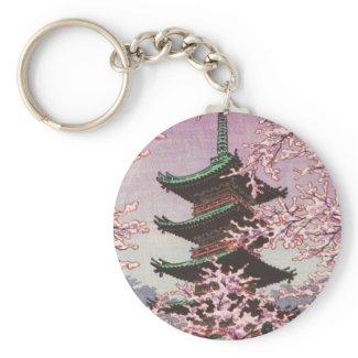 Eight Views Of Tokyo Ueno Toshogu Shrine Kasamatsu Keychain