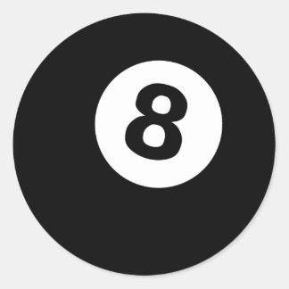 eightball classic round sticker