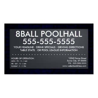 eightball : electric sign business cards