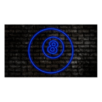 eightball electric sign business card templates