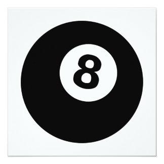 """eightball invitación 5.25"""" x 5.25"""""""