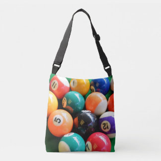 Eightball The Numbered Traditional Colour Balls, Crossbody Bag