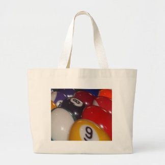 Eightball The Traditional Coloured Balls, Large Tote Bag