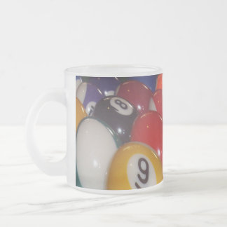 Eightball The Traditional Colours, Frosted Glass Coffee Mug