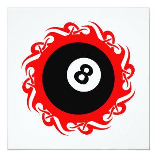 """eightball tribal invitación 5.25"""" x 5.25"""""""