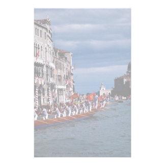 Eighteen-oarsmen boat in the Regatta Storica Stationery Paper