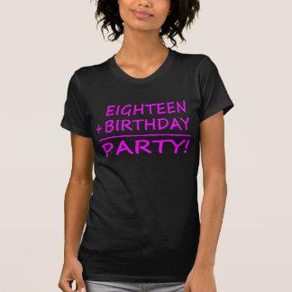 Eighteenth Birthdays : Eighteen + Birthday = Party Tshirt