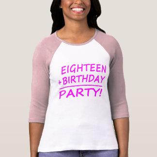 Eighteenth Birthdays : Eighteen + Birthday = Party Tee Shirts