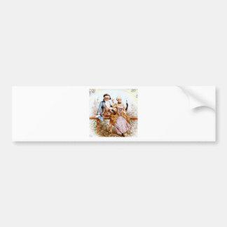 Eighteenth Century French Couple in Garden Bumper Stickers