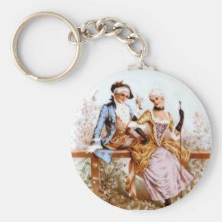 Eighteenth Century French Couple in Garden Keychain