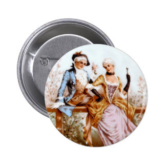 Eighteenth Century French Romance Pinback Button