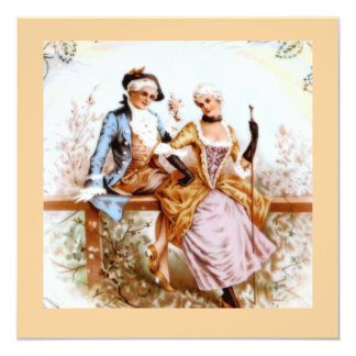 Eighteenth Century French Style Romantic Couple Card
