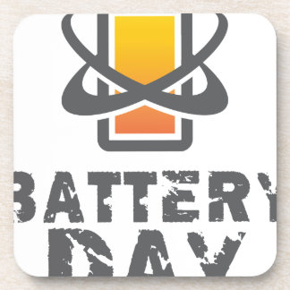 Eighteenth February - Battery Day Drink Coaster