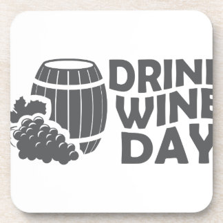 Eighteenth February - Drink Wine Day Beverage Coaster