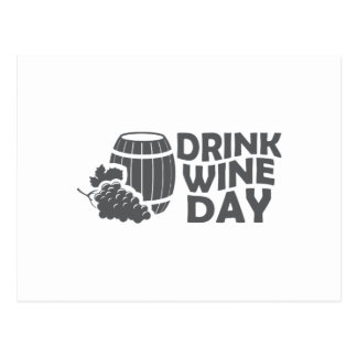 Eighteenth February - Drink Wine Day Postcard