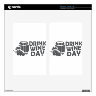 Eighteenth February - Drink Wine Day Skin For Kindle Fire