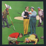 "Eighteenth Hole Napkin<br><div class=""desc"">Artist: John Falter 