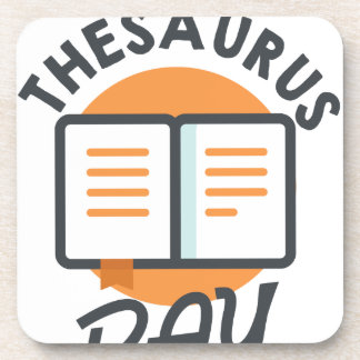 Eighteenth January - Thesaurus Day Beverage Coaster