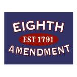 Eighth Amendment Est 1791 Post Cards