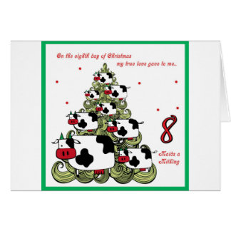 Eighth Day Of Christmas Cards | Zazzle