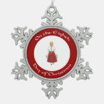 Eighth Day of Christmas Ornament - Blond Milkmaid