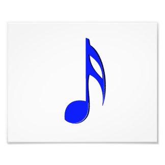 eighth note blue black musical photo print