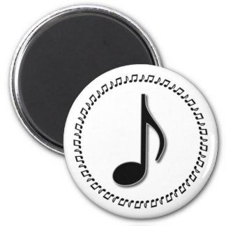 Eighth Note Music Design Magnet