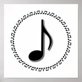 Eighth Note Music Design Print
