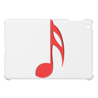 eighth note red black music design png iPad mini case