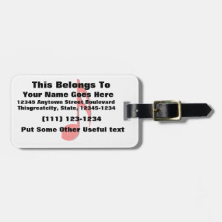 eighth note red black music design.png luggage tag
