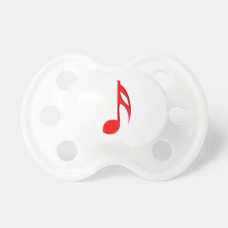 eighth note red black music design.png pacifier
