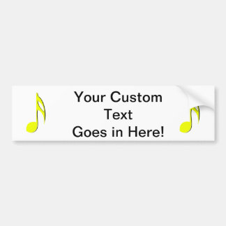 eighth note yellow black.png bumper sticker