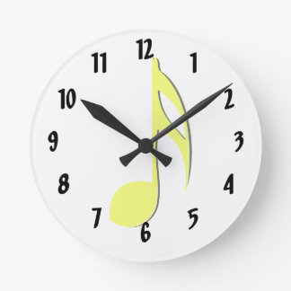eighth note yellow black.png round clock