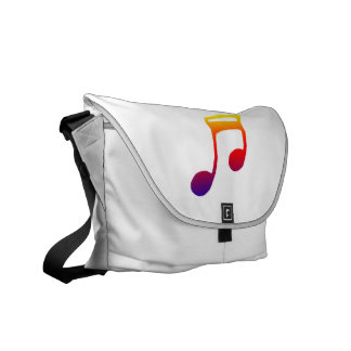 Eighth notes red yellow blue music design courier bag