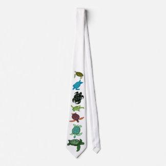 Eighth sea turtle line up tie