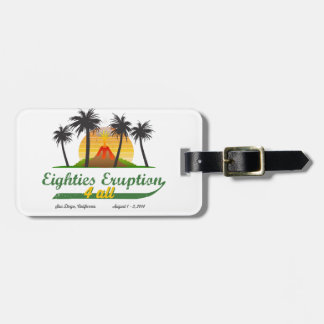 Eighties Eruption 4All Luggage Tag