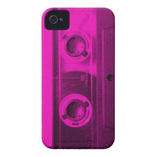 Eighties Love. Hot pink retro cassette tape. Case-Mate iPhone 4 Cases